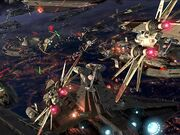 Ultimate Battle Over Coruscant Wallpaper