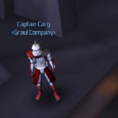 Captain Carg, clone captain in charge of an outpost on Felucia