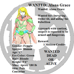 Wanted Poster for Alana Grace