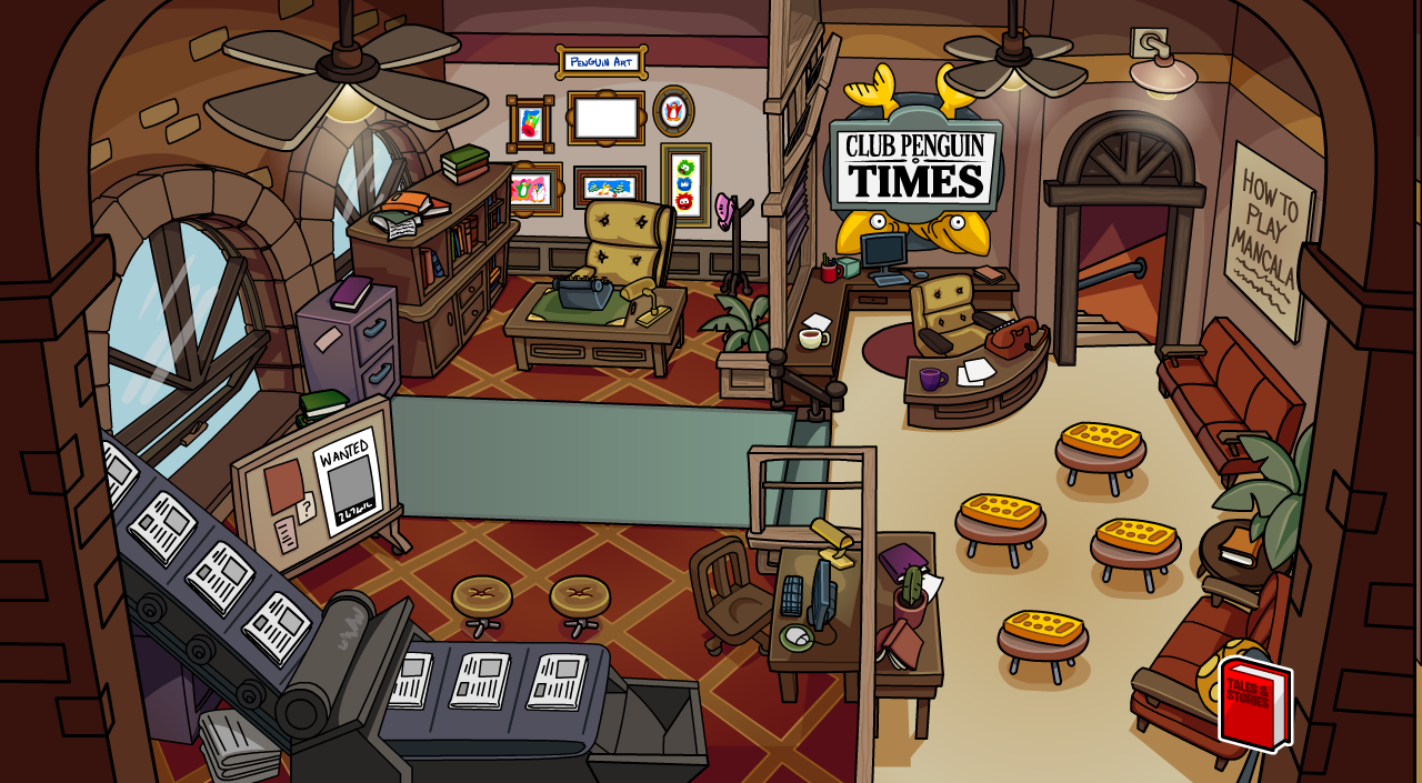 Where Is The Book Room In Club Penguin