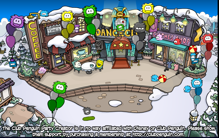 Custom Club Penguin Rooms