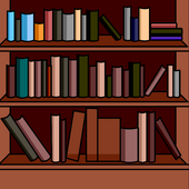 Bookshelves Background photo