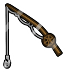 Old Fishing Rod Pin icon