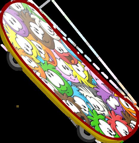 File:Puffle Skateboard.png