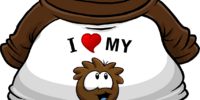 I Heart My Brown Puffle T-Shirt