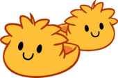 Orange Puffle Slippers icon