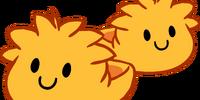 Orange Puffle Slippers