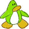 Doodle Dimension penguin Lime Green