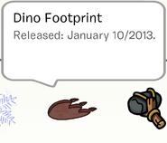 Dinofootprintpinstampbook