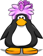 Stegosaurus Puffle Cap on a Player Card