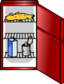 Shiny Red Fridge sprite 002