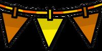 Orange Triangle Pennants