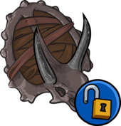 Triceratops Shield clothing icon ID 15200