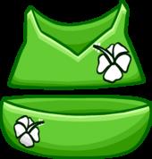 Green Flower Bikini clothing icon ID 4097