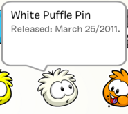 White puffle pin 2