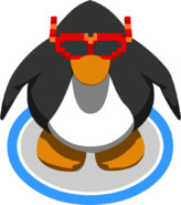 Red Pixel Glasses in-game