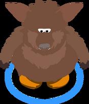 Brown Bat Costume in-game