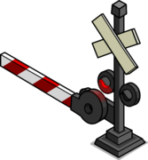 Railroad Crossing Sign sprite 002