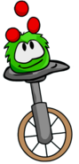Puffle on unicycle
