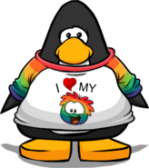 I Heart My Rainbow Puffle T-Shirt from a Player Card