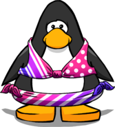 Pink Stripe Bikini on a Player Card