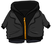 Black Zip Hoodie clothing icon ID 4755