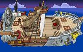 Rockhopper's Quest Migrator sailing to Shipwreck Island