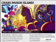 Crabs invade the island!