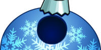 Blue Snowflake Bauble