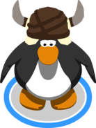 Caveguin Helmet ingame