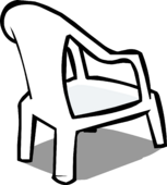 White Plastic Chair sprite 004