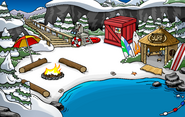 Puffle Party 2009 construction Cove