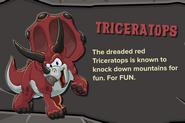 Red Triceratops Description