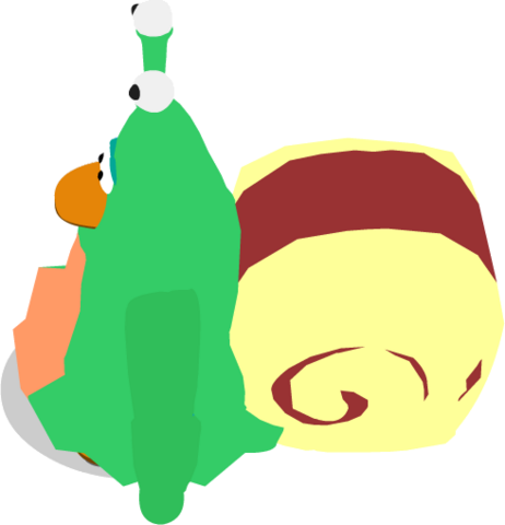 File:Snail Costume In-Game (Side).png