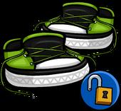 GreenUntiedSneakers