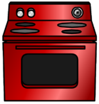 Shiny Red Stove furniture icon ID 663