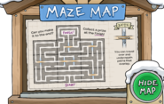 Winter Party Maze Map opened