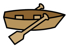 Rowboat Pin