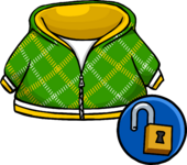 Green Crosshatch Hoodie unlockable