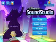 SoundStudio app title screen