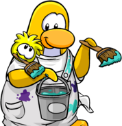 Adopt Yellow login screen penguin