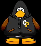 Black Letterman jacket player card