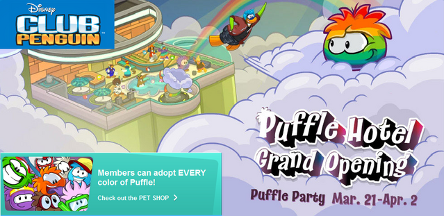 File:Club Penguin custom homepage Puffle Party 2013.png