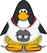Black Puffle Don't Care Tee PC