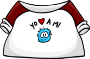 I Love My Puffle T-Shirt icon es