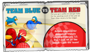 Team Blue vs Team Red Ad