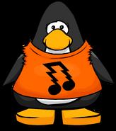 Orange Rocker Shirt from a Player Card