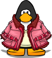 Pink Winter Coat from a Player Card