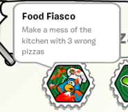 Food fiasco stamp book
