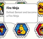 Fire ninja stamp book
